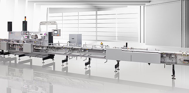 FCB horizontal high-performance flow wrapping machine from the Loesch F-Series