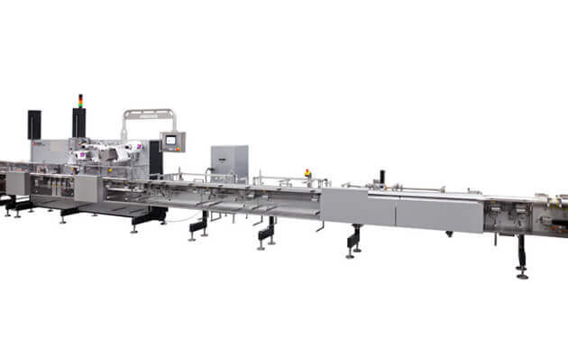 Horizontal flow wrapping machines for chocolate and candy